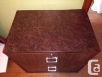 Lateral 2 Drawer Filing Cabinet. Solid cabinet has a