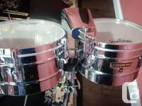 "The 10 and 12"" shells are a higher pitch than timbales."