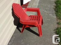 2 Kid size Andirondack style lawn patio chairs - Clean