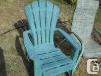 EACH chair = $5.00. Outdoor patio or lawn chairs. 2