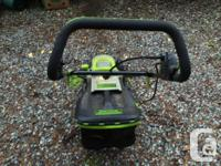 very handy and light weight electric lawn mower, good