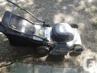 electric lawn mower works good ,will need some tlc ,