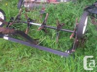 38in lawn sweep and aerator with bag will attach to