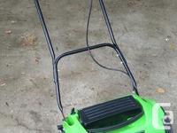 Gently used 1 season battery powered power mower. Key