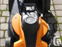 WORX Electric Lawn Mower Model WG 708 excellent
