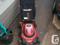 "I have an 20"" electric lawn mower to trade for push"