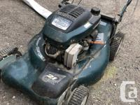 Accepting offers on yard care equipment. The equipment