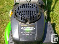 4 year old Lawnboy mower for sale (push type).
