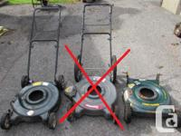 My neighbour has been repairing lawnmowers and