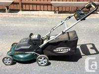 Yardworks Cordless lawnmower 24 volt- 20 ah,new