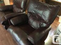 Two LazyBoy leather recliners in good condition. Buy