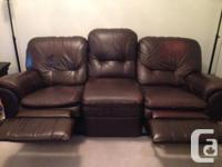 Sparingly used Lazy Boy 3 seater sofa and love seat,