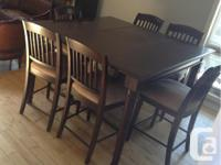 Lazy Boy Solid Wood Dining Table and 6 Chairs Lazy Boy