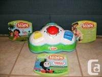 Leap frog baby with 3 DVDs.  Little leaps learning