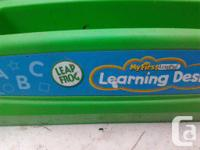 CHILD'S LEAPFROG WORK DESK AND MATCHING CHAIR ONLY