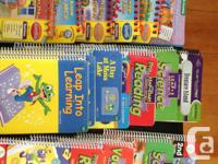 Big lot of LeapFrog goodies! 16 books and 20 cartridges