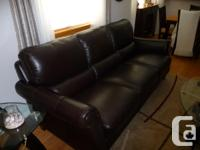 Like new leather couch and chair. Both are in perfect
