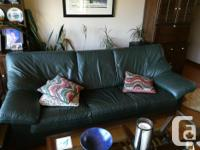 High quality (purchased at Dante) hunter green couch