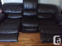 Brand new! Electronic recliner (push button) **Leather