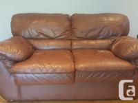 $500 OBO Palliser leather couch and loveseat in great