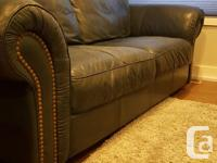High Quality Leather Couch and matching Loveseat