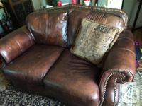 High quality leather couch and love seat in excellent
