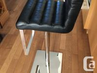 Black leather/Chrome designer hydraulic up/down and