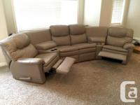 This leather home theatre set will provide lots of