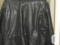 Leather Jacket - Walking Dead Negan Style, Black, One