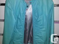 Wilson Leather white jacket size large $15.00 Wilson