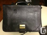 Genuine Leather bag, black, it can also be used as lab