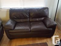 I have a beautiful brown leather loveseat and arm