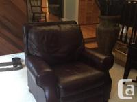 Brown, soft, supple leather in excellent condition. 2