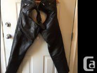 Black Leather Chaps Excellent Condition - Quality