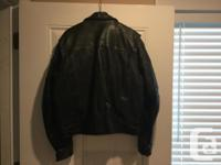 Top quality leather motorcycle jacket and matching