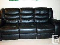 Excellent condition, very comfy. Black angus bonded