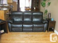 16 month old leather sofa and loveseat with 10 year