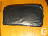 "Black leather seat measures 12"" X 5 1/2"" with velcro"