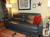 Leather sofa in beautiful condition, modern design, and