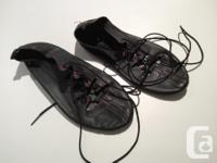 Nice pair of lace up leather dance shoes . Size 7.