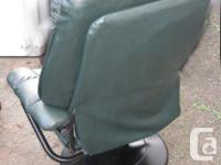 Leather Upholstered Recliner (swivels 180 degrees) as
