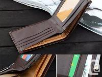 Leather Wallet Purse Men and Business Style Material: