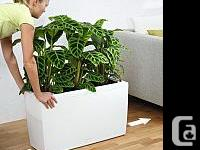 Two Lechuza (aka Playmobil!) self-watering planter