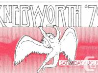 LED ZEPPELIN 1979 Knebworth England backstage pass