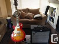 Selling my left handed epiphany les Paul in cherry sun