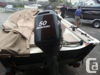 2011 Legend 151 Side console with 50 HP mercury with