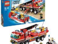 Gently used LEGO City OffRoad Fire Truck & Fireboat