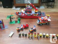 police set: comes with a boat, a station, 9 vehicles, a