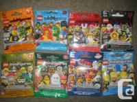 8 - BRAND NEW LEGO mini figures Series 4, 5, 7, 8, 10,
