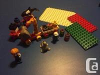 150+ large Lego pieces including Lego people, wheeled